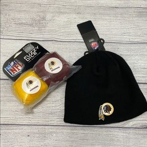 🆕 WASHINGTON REDSKINS Hat & Fuzzy Dice Lot